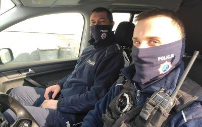 Kominy i maski dla policyjnych związkowców