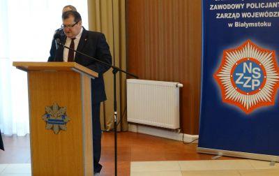 Uroczyste posiedzenie Zarządu Wojewódzkiego NSZZ Policjantów